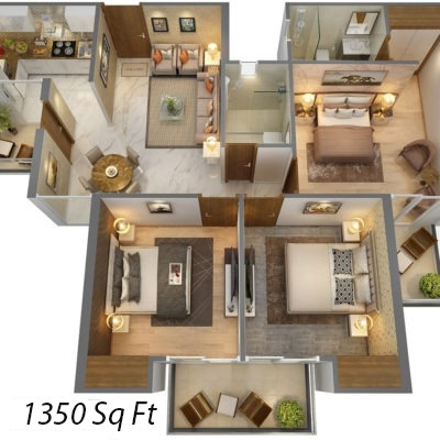 t home 3bhk